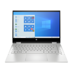 """HP Pavilion x360 14-dw0001nh, 14"""" FHD AG IPS 250cd, Core i3-1005G1, 8GB, 512GB SSD, Win 10, ezüst"""