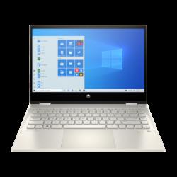 """HP Pavilion x360 14-dw0007nh, 14"""" FHD AG IPS 400cd, Core i5-1035G1, 8GB, 256GB SSD, Win 10, arany"""