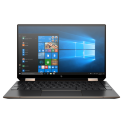 "HP Spectre x360 13-aw0010nh, 13.3"" UHD OLED Touch, Core i7-1065G7, 16GB, 512GB SSD, Win 10, fekete"