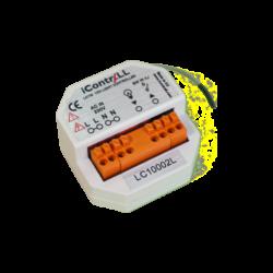 ICONTRALL 1 áramkörös világításvezérlő, fényerőszabályzás nélkül, kapcsoló alá építhető