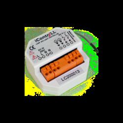 ICONTRALL 2 áramkörös világítás vezérlő, fényerőszabályzás nélkül, kapcsoló alá építhető