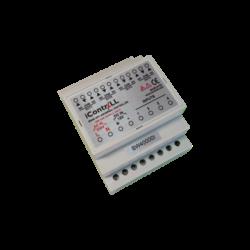 ICONTRALL 4 csatornás univerzális vezérlő, DIN sínre szerelhető